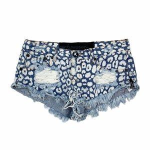ONE TEASPOON Distressed Shorts